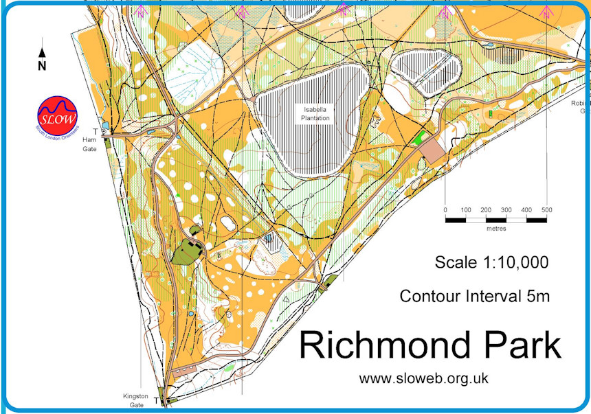 Richmond London Map.Richmond Park Night O October 30th 2012 Orienteering Map From